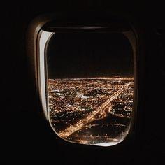 Through the airplane window