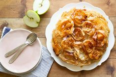 apple-croustade-and-sliced-apples Sliced Apples, Cooked Apples, French Apple Pies, Orange Blossom Water, Caramelized Sugar, Phyllo Dough, First Bite, Granny Smith, Thanksgiving Desserts