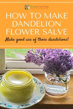 """Got a bumper """"crop"""" of dandelions in your yard? Pick these edible flowers straight from your yard and use them to make this wonderfully easy dandelion flower salve recipe. Learn more from Dandelion Oil, Dandelion Jelly, Dandelion Flower, Herbal Remedies, Health Remedies, Natural Remedies, Salve Recipes, Canning Recipes, Usda Food"""