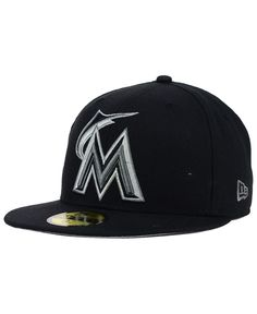 b75cffa68c0ab New Era Miami Marlins Graphite 59FIFTY Cap   Reviews - Sports Fan Shop By  Lids - Men - Macy s