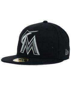 2c9b5bc5131 New Era Miami Marlins Graphite 59FIFTY Cap Men - Sports Fan Shop By Lids -  Macy s