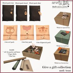 https://flic.kr/p/NBB4XT | Serenity Style- Give a gift | Cute collection of packs and boxes that customers can use to make gifts to their family and friends.   The rare included  all the packs and 2 special items.  Exclusive for the new round of The Crossroads-Serenity Style   From 3 on Nov