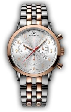 Rue du Rhone Double 8 Chronograph Silver Dial Two-tone Mens Watch 87WA120057 by 88 Rue du Rhone -- Awesome products selected by Anna Churchill