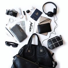 Arrived in New York City - jet lag is kicking in! Now live on the blog all my inflight travel essentials. #flatlay #flatlayapp #flatlays www.theflatlay.com