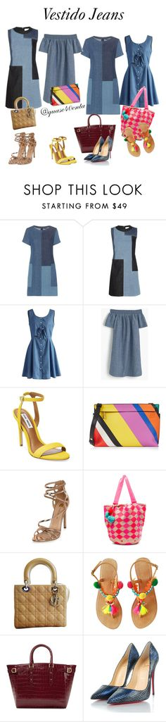 """""""Vestido Jeans"""" by fabiana-canegal ❤ liked on Polyvore featuring J Brand, Victoria, Victoria Beckham, Chicwish, J.Crew, Steve Madden, Loewe, River Island, Sophie Anderson, Christian Dior and Aspinal of London"""