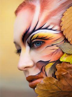 fall leaves makeup