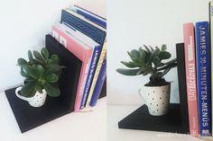 wunderbare Lebensart: Buchstützen mit Tasse DIY upcycling