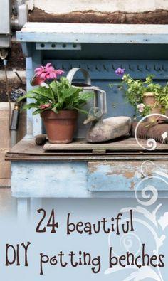24 Beautiful Potting Bench Ideas!