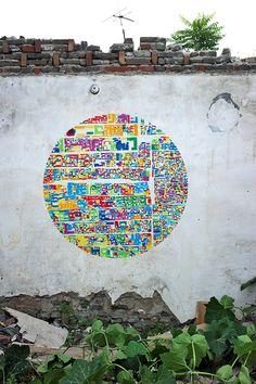 Blinking City Stencil