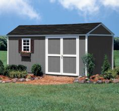 Colony Bay Outdoor Structures Augusta x Storage Building Kit with Floor - Lawn & Garden - Sheds & Outdoor Storage - Sheds & Storage . Storage Building Kits, Shed Building Plans, Building Ideas, Shed Design, Building Design, Cedar Shed, Garden Storage Shed, Storage Sheds, Shed Blueprints