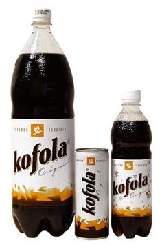 Kofola - carbonated soft drink produced in Czech Republic and Slovakia. Since 1959. Kind of like Coke