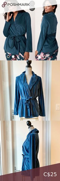 Luxury Velour Wrapover Cardigan Brand new without tags. Purchased October 2020 popped the tag and realized I grabbed the wrong size. I'm unable to exchange 😣 my loss your gain m! It's a gorgeous wrap style robe Wrapover Long sleeves Integrated satin belt with loops Luxury plush velour 100% Polyester Our luxury plush velour is super soft to the touch, thin, very stretchy, warm and easy to careful La Vie En Rose Intimates & Sleepwear Robes Black Sequin Top, Black Sleeveless Top, White Lace Kimono, Sheer Gown, Sequin Sweater, White Lingerie, Bell Sleeve Blouse, Wrap Style, Gain