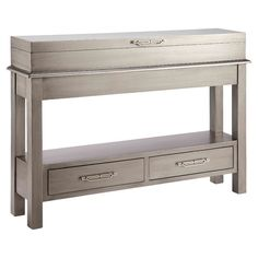 Shop for Stein World Messina Storage Cabinet, and other Living Room Tables at Stein World in Memphis, TN. Stunningly distinctive, this storage console boasts two drawers, flip-top storage and a dazzling metallic finish. Narrow Console Table, Entryway Tables, Accent Furniture, Living Room Furniture, Furniture Ideas, Entry Furniture, Table Furniture, Painted Furniture, Sofa Tables