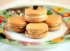 Espresso Macarons with Caramel Buttercream from Tish Boyle Sweet Dreams