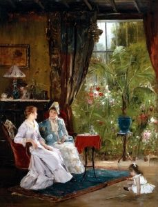 Conversation by Mihály Munkácsy on Curiator, the world's biggest collaborative art collection. Classic Paintings, Beautiful Paintings, Pictures At An Exhibition, Collaborative Art, Classical Art, Light Painting, Famous Artists, Art History, Hungary
