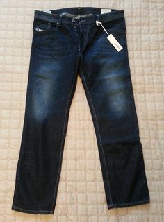 #DIESEL men jeans DARRON 36x30 Regular Slim Tapered cotton NWT made in MOROCCO visit our ebay store at  http://stores.ebay.com/esquirestore