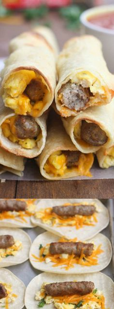 These Egg Sausage Breakfast Taquitos from Tastes Better from Scratch have all of your favorite breakfast staples that get wrapped up in a delicious taquito style breakfast.