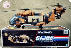 GI JOE Tomahawk 1986 Helicopter Toy with Box by OCTAVIUSWELD, $120.00