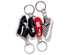 The strong brand identity of VANS lends itself to plenty of merchandizing opportunities. Cool Keychains, Cute Keychain, Lanyard Keychain, Mini Things, Cool Things To Buy, Cute Car Accessories, Mini Craft, Cute Charms, Miniature Crafts