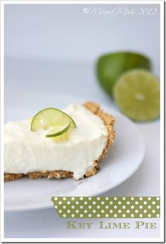 Key Lime Pie - I substituted double whipped cream for the sour cream and added lemon juice.