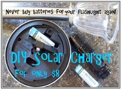 Preppers Survive   DIY Solar Charger: Never buy batteries for your flashlight again   #prepbloggers #diy #solar