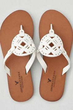 5845c8c49d8 AEO Leather Medallion Flip Flop