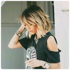 Look of the day: ombre hair! #ombrehair #darkroots #lotd #lookoftheday #careforhair #browntoblonde #longbob #lob #lobhaircut #hairofinstagram