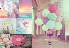 photographie avec plusieurs couleurs pastels   comment Posted in Jolies Choses , Photo ballon Fond d'écran Pastel