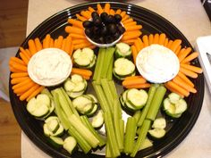 Bunco Night flower relish tray