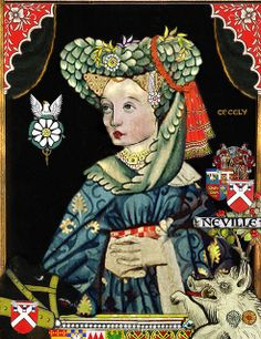 Contemporary portrait of Lady Cecily Neville (1415-1495), the mother of Edward IV and Richard III.