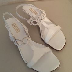 Nordstrom white sandals Cute white sandals with heels. Very good condition lightly worn. Nordstrom Shoes Sandals