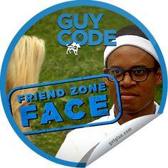 Friend Zone Face Sticker | GetGlue Run around Cedar Point, slapping this on people hahaha