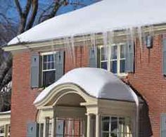 First the icicles, then realize you've got ice dams; clear off the roof to minimize damage from roof leaks & learn to assess the damage from ice dams Ice Dams, Love Your Home, Snow Scenes, First Time Home Buyers, Home Hacks, Shovel, Home Values, Assessment, New England