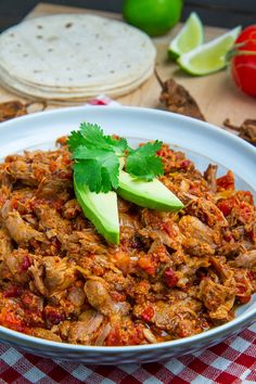 Pork Tinga (Tinga de Puerco). Moist and tender shredded pork and chorizo in a smoky and spicy chipotle chili sauce that is perfect over rice with beans or in tacos, burritos, tostadas, etc. ♥ Closet Cooking