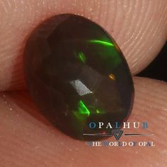 6X8 MM Natural Ethiopian Welo Fire Black Opal Faceted Cut Gemstone Play 734H