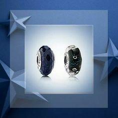 Midnight blue muranos/for my next bracelet...navy and diamond?