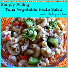 Under the Big Oak Tree: Simply Filling Tuna Vegetable Pasta Salad