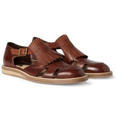 Paul Smith Spring Summer 2013 Fringe Leather Sandals