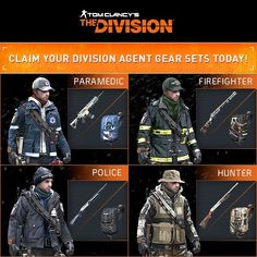 The Division - Agent Gear Set; what Firefighter in turnout gear wears a ball cap? He should be outfitted with his helmet. THEN I would buy it. The Division Cosplay, The Division Gear, Division Games, Tom Clancy The Division, Airsoft Helmet, Future Soldier, Military Pictures, Post Apocalypse, Motorcycle Outfit