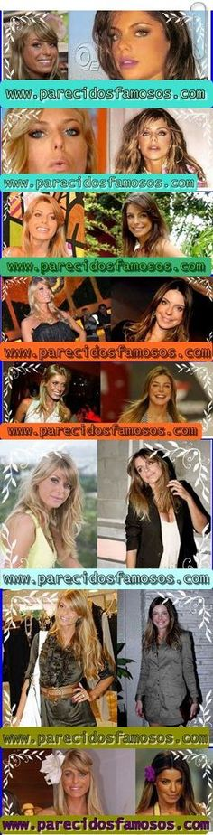 Parecidos con famosos: Brasileñas Caroline Bittencourt  con Daniela Cicar...