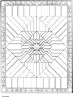 Colouring-in page - sample from 'Creative Haven 3-D Modern Mandalas Coloring Book' via Dover Publications ~s~
