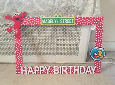 Theretroinc on etsy elmo party favors elmo party and elmo diy poster board elmo photo booth frame diy sesame street elmo birthday party solutioingenieria Images