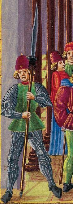 """Falcione inastato; tratto dal """"De Sphaera Codex"""", folio 9r, Biblioteca Estense Universitaria (Modena, Italy)"""