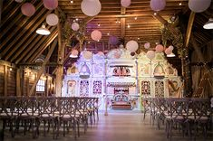 Barn wedding ceremonies at Preston Court. With the wonderful art nouveau musical organ in the background.