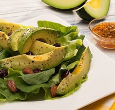 Avocado Salad Center I Avocados From Mexico Salad Recipes Healthy Lunch, Avocado Salad Recipes, Easy Salads, Healthy Salad Recipes, Summer Salads, Avocados From Mexico, Homemade Honey Mustard, Party Food Platters