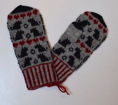 Vanten Albert – Dela dina vantar! Mittens, Gloves, Winter, Fair Isles, Fingerless Mitts, Winter Time, Fingerless Mittens, Winter Fashion