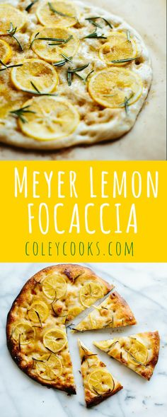 Personalized Graduation Gifts - Ideas To Pick Low Cost Graduation Offers Meyer Lemon Focaccia Salty, Sweet, Tangy, Pillowy Soft Totally Addictive Side Dish Recipes, Lunch Recipes, Healthy Dinner Recipes, Appetizer Recipes, Great Recipes, Appetizers, Pizza Recipes, Unique Recipes, Delicious Recipes