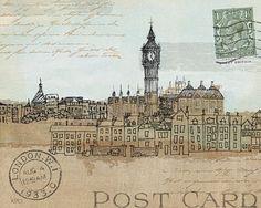 Avery-Tillmon-Cities-II-London-Fertig-Bild-20x25-Wandbild-Postkarte-Staedte
