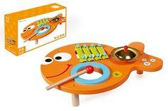 Met de houten muziekvis van het merk Scratch kun je lekker veel muziek maken! Je kunt drummen, met de deksels slaan en met de xylofoon mooie geluiden maken. We weten zeker dat je veel publiek gaat krijgen hoor. Gekopbeestjes.nl