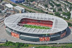 An aerial photograph of Arsenal Football Club�s Emirates Stadium, North London